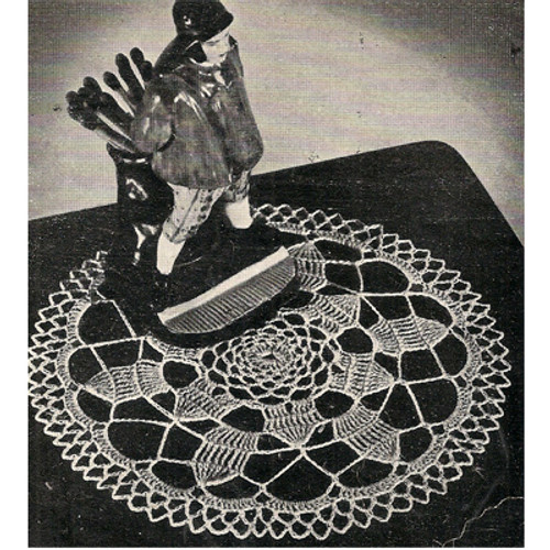Vintage Small Crocheted Doily Pattern