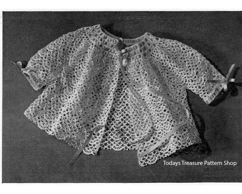 Crocheted Lace Baby Jacket Pattern
