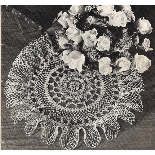 Ruffled Summer Breeze Doily Crochet Pattern
