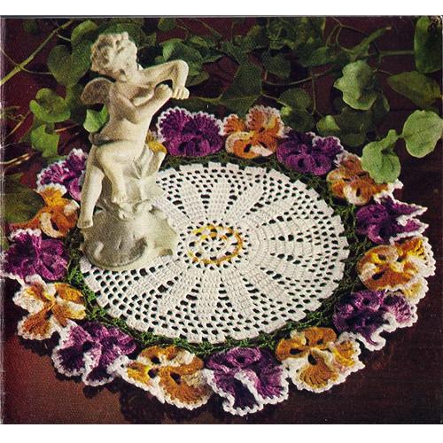 Ruffled Crochet Pansy Doily Pattern