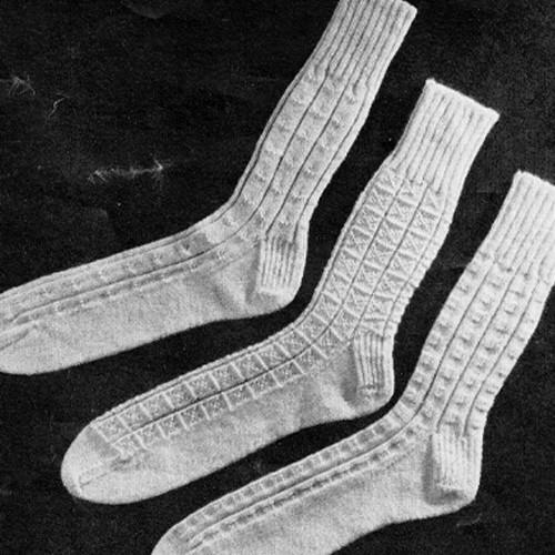 Mens Vintage Dress Socks Knitting Pattern