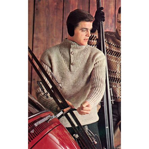 Vintage Ribbed Pullover Pattern for Men