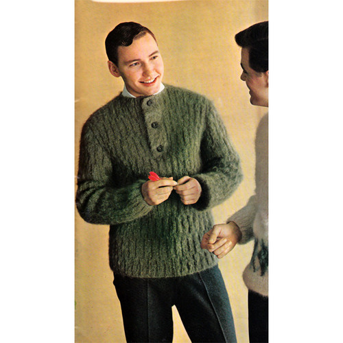 Mans Knitted Below Hip Pullover Pattern