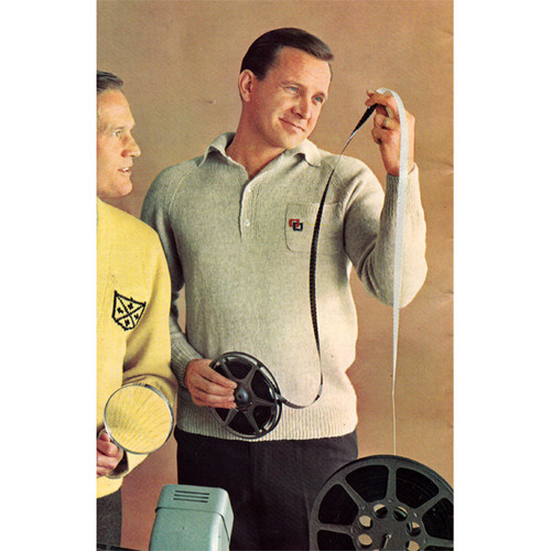 Mans Knitted Shirt Pattern with Collar