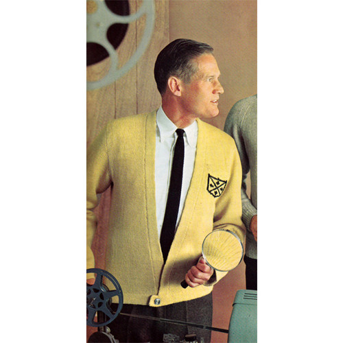 Mans Cardigan Knitting Pattern with Bottom Band