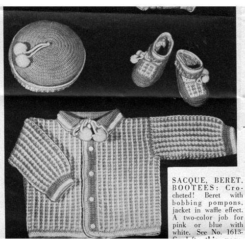 Baby Crochet Set Pattern in Waffle Weave