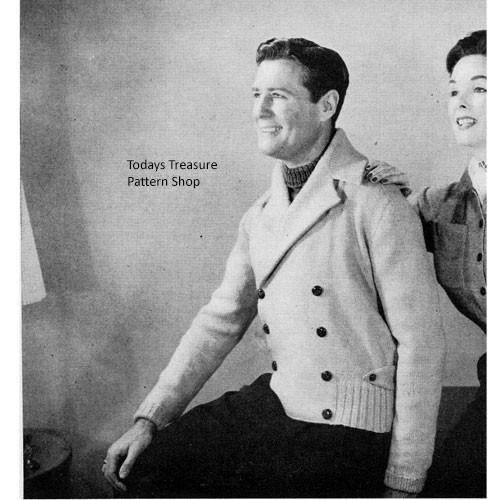 Mans Vintage Windbreaker Knitting Pattern