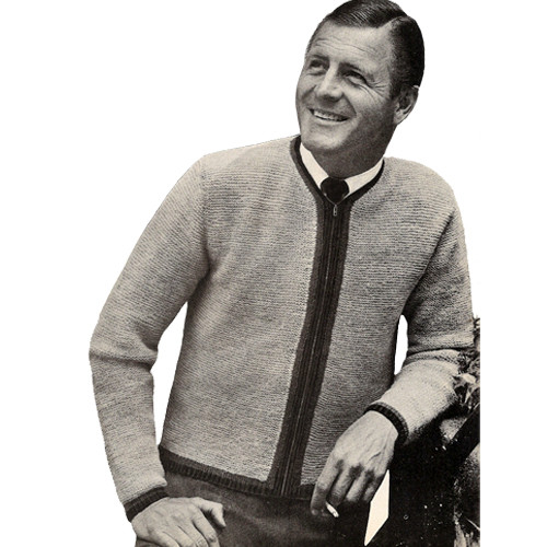 Mans Knitted Tyrolean Jacket Pattern, Vintage 1950s