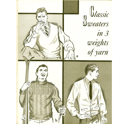 Mens Classic Knitting Pattern, Jackets, Pullovers, Vests