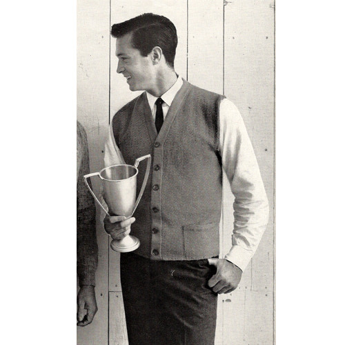 Mans Long Sleeveless Cardigan Pattern