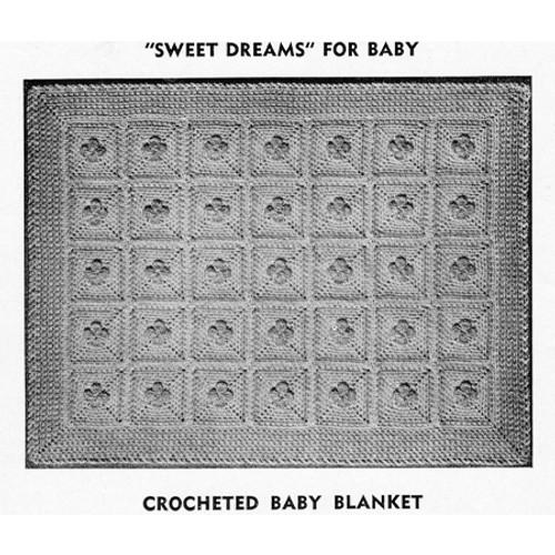 Vintage Crochet Block Baby Blanket Pattern