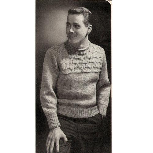 Mans Textured Sweater Knitting Pattern
