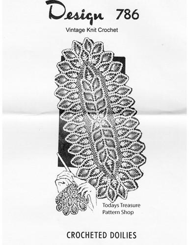 Crochet Pineapple Runner Pattern, Mail Order 786