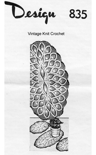 Oval Pineapple Crocheted Doily Pattern Design 835