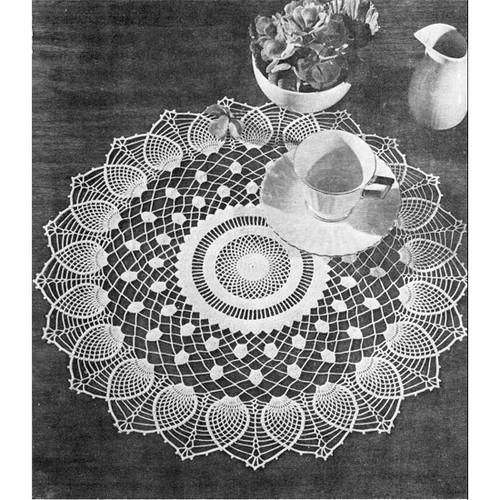 Pineapple Sheer Crochet Doily pattern from Lily Mills