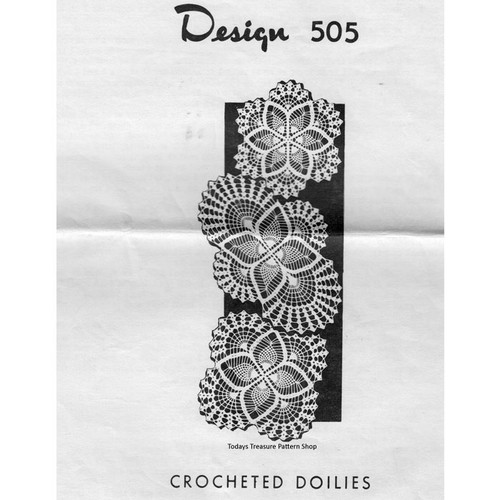 Mail Order Design 503, Three Crocheted Doilies