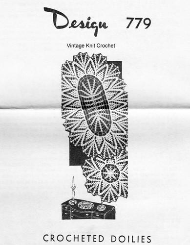 Oval Crochet Doily Pattern, Petal Stitch, Mail Order 779