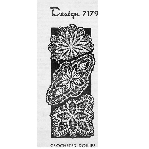 Mail Order Design 7179, Crocheted Doilies Pattern