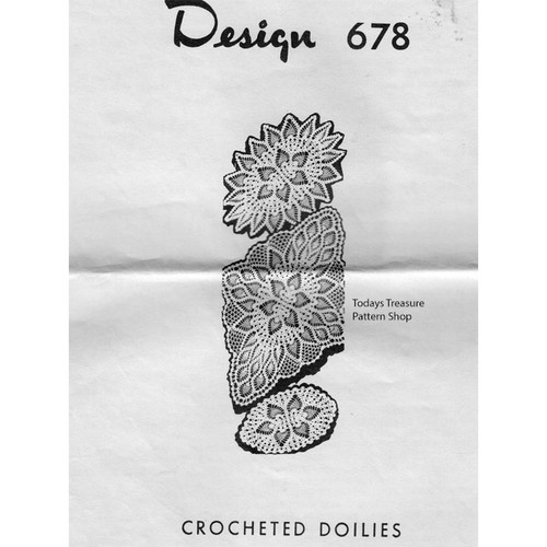 Pineapple Oval Crochet Doilies Pattern Mail Order 678