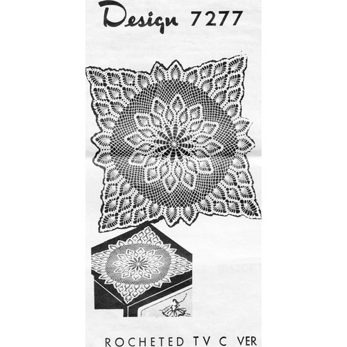 Crocheted Square Cloth Pattern Design 7277