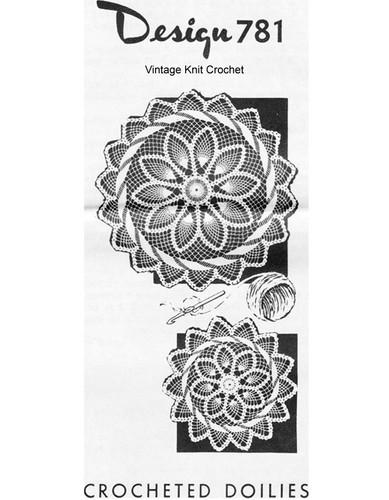 Pineapple Swirl Crochet Doilies, Mail Order 781