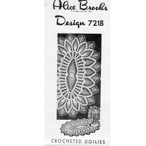 Alice Brooks 7218 Oval Pineapple Doily pattern