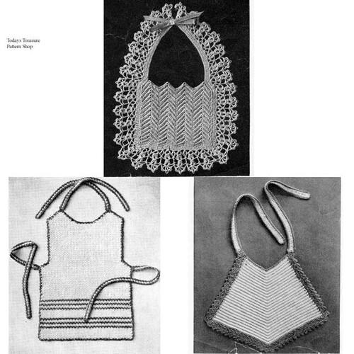 Vintage Crocheted Baby Bib Pattern