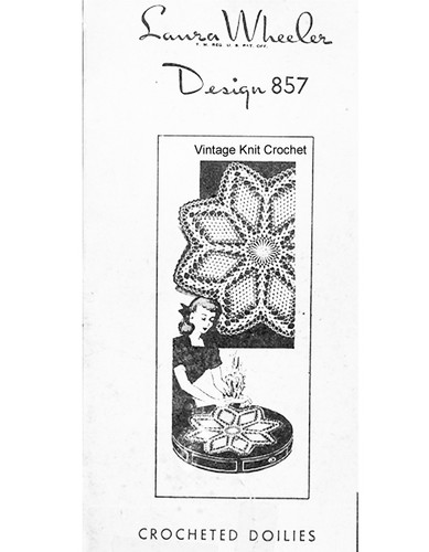 Star Crochet Doilies Pattern, Large Small, Mail Order 857