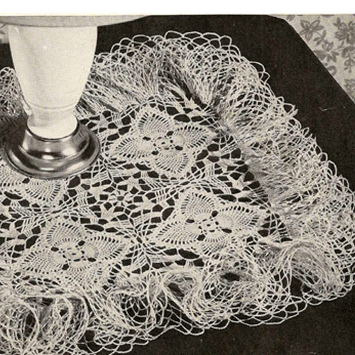 Vintage Square Ruffled Doily Pattern