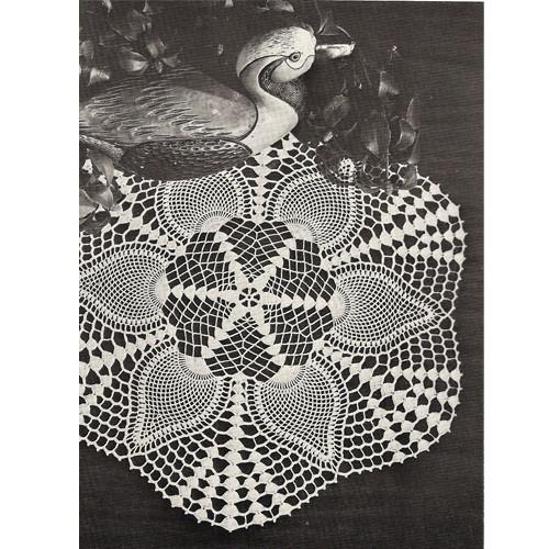 Centerpiece Crocheted Pineapple Doily Pattern