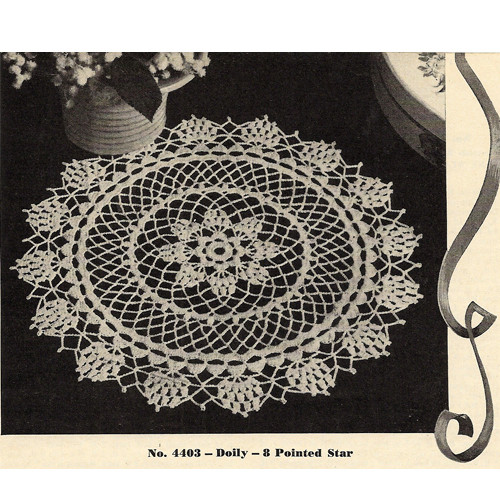 Star Pineapple Crocheted Doily Pattern