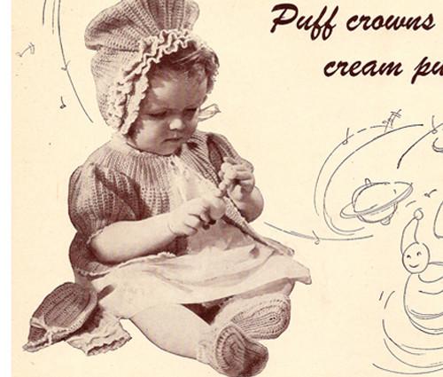 Crochet Baby Dress Bonnet Pattern