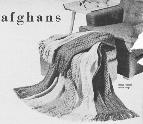Color Stripe Knitted Afghan Pattern