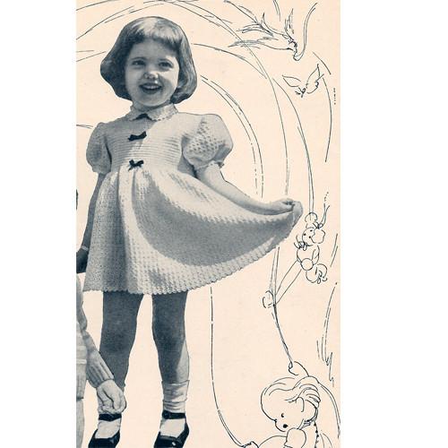 Girls short sleeve crochet dress pattern