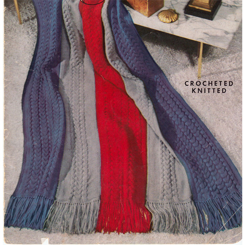 Easy Striped Cable Afghan Knitting Pattern