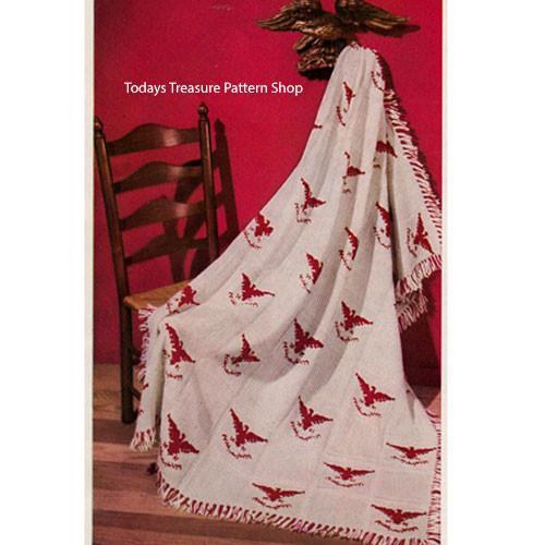 Vintage American Eagle Afghan Knitting Pattern