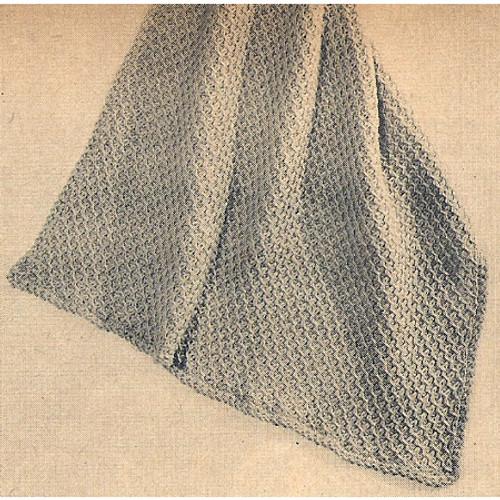 Smocking Stitch Knitted Blanket Pattern