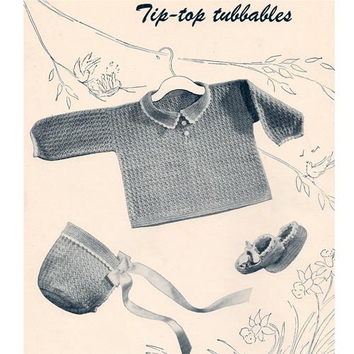 Boys Crocheted Layette pattern