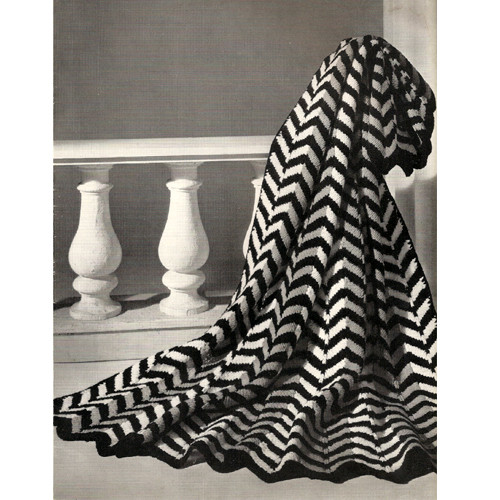 Chevron Striped Knitted Afghan Pattern