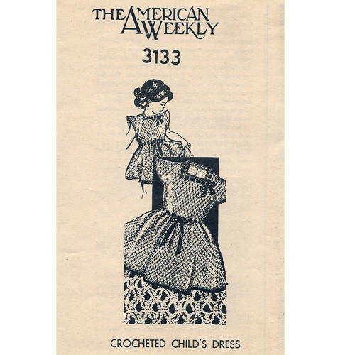 Girls Crochet Dress Pattern No 3133