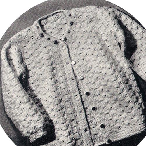 Girls crocheted jacket pattern