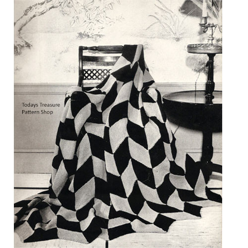 Vintage Geometric Flags Knitting pattern