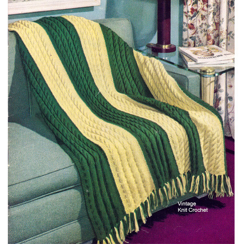 Easy Cable Afghan Knitting Pattern