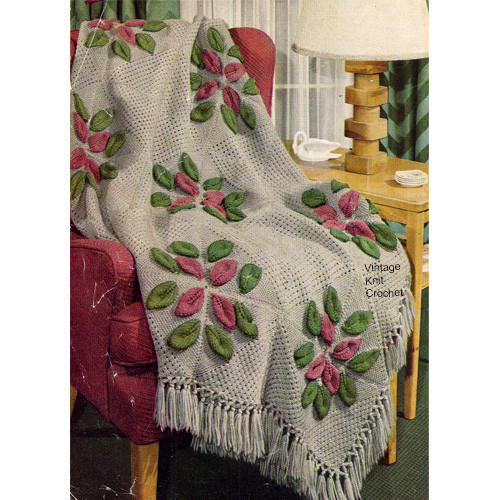 Knitted Flower Afghan Pattern