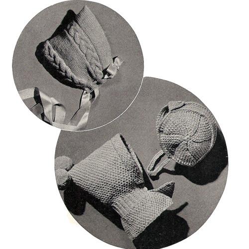 Vintage Crochet Baby Hats Pattern