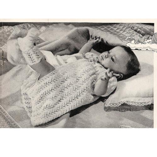 Baby Crochet Gown Layette Pattern