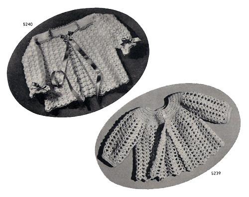 Mesh Crochet Baby Jacket Pattern