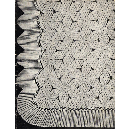 Crochet Swedish Bedspread Pattern, Vintage 1940s