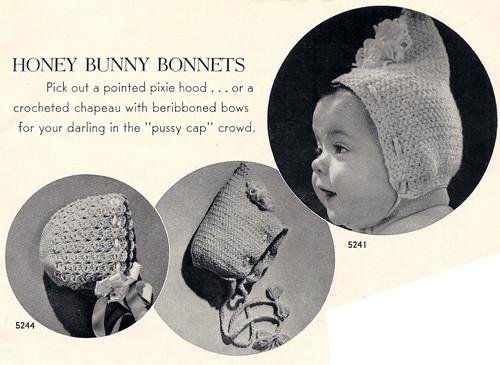 Vintage Bonnets Crochet Pattern