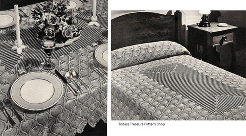 Pineapple Crochet Bedspread Tablecloth Pattern